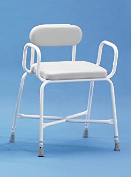 Shower Stool Sherwood Plus Bariatric Arms And Padded Back by Patterson Medical