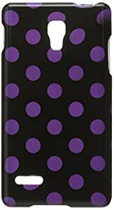 Eagle Cell PILGP769G185 Stylish Hard Snap-On Protective Case for LG Optimus L9/Optimus 4G P769 - Retail Packaging - Purple/Black Polka Dots