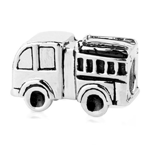 Sterling Silver Fire Truck Bead Charm