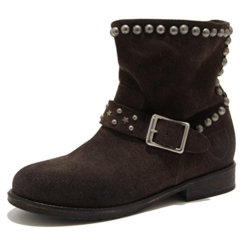 2578G stivaletto donna marrone MR. WOLF scarpa stivale boots shoes women [39]