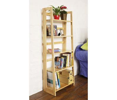 Premier Housewares 147 x 58 x 30 cm Rubberwood 5-Tier Folding Shelving Unit
