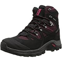 Salomon Women's Discovery GTX Hiking Shoes (Bordeaux/Black/Carmine)