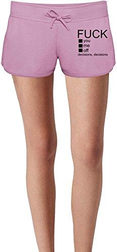 Fuck You Me Off Slogan Sweat Shorts Estivi per Donne Summer Sweat Shorts For Women & Ladies | 80% Cotton-20%Polyester| DTG Printing| Unique & Custom X-Large