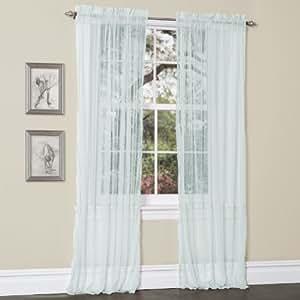 Lush Decor Lola Window Curtains Aqua Blue