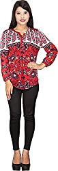 TUC Women's Plain Top (TUC_01_Red_L, Red, Large)