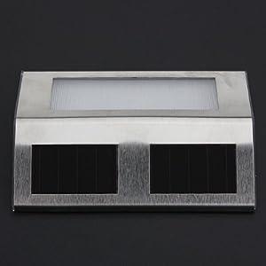 White Sun Power Smart LED Solar Gutter Night Utility Security Light (New Fence Light)