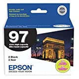 Epson No. 97 Extra-High Capacity Black Ink Cartridge  For WorkForce 600 and WorkForce 40 Printers, 2-Pack