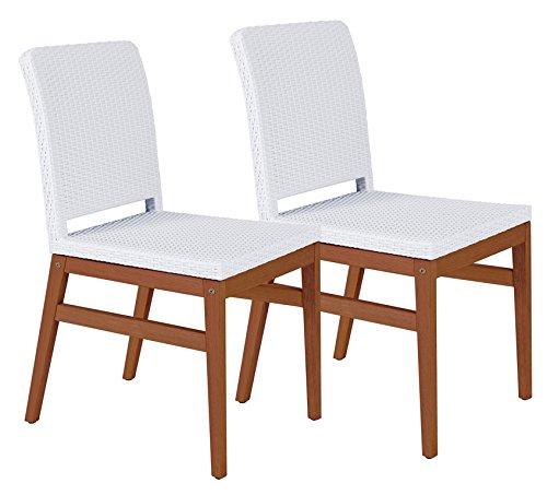 Tramontina 13830/302 2 Stück Gartenstuhl Boston Chair aus Jatoba FSC, edelholz