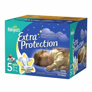 Pampers Pampers Extra Protection Big Pack, Size 5, 27+ lbs 58 ct (Quantity of 2)