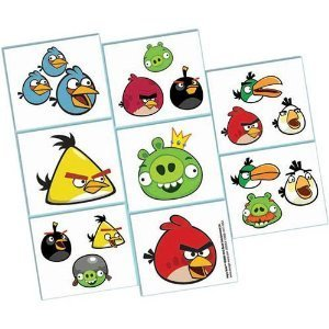 Amazon.com: Angry Birds Party Favors temporary Tattoos 16ct: Health