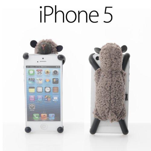 iPhone5 専用 スマホケース モコモコ 羊 の ぬいぐるみ iPhone カバー Sheepy シーピー ブラウン