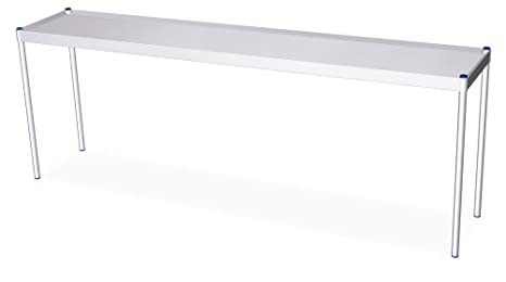 Shelf (H) 677- (D) (L) 1391- 391 mm Stainless Steel on the Table