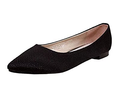 Akar Women's Spring Pointed Toe Chic Solid Casual Office Lady Flats Shoes