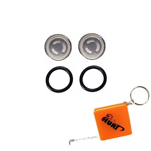 HURI 2set Motorcycle Brake Master Cylinder Sight Glass with O Ring (Sight Glass Repair Kit compare prices)