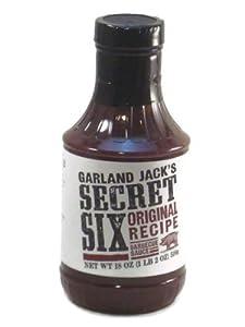 Garland Jack's Secret Six Original Recipe Barbecue Sauce 18 oz (Pack of 2)
