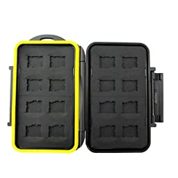 TPF MSD16 Rugged Water-Resistant Memory Card Case (16x microSD Cards)