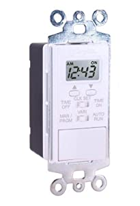 Swylite LST100-W Single Event Digital In-Wall Timer Switch, White