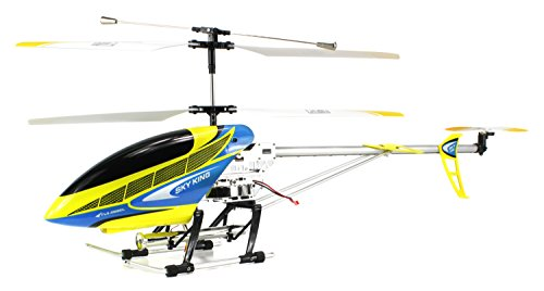 Sky King V2.0 Electric Rc Helicopter Huge Size Outdoor Gyroscope 2.4Ghz 3.5 Channel Ready To Fly Rtf W/ Extra Rotor Blades (Colors May Vary)