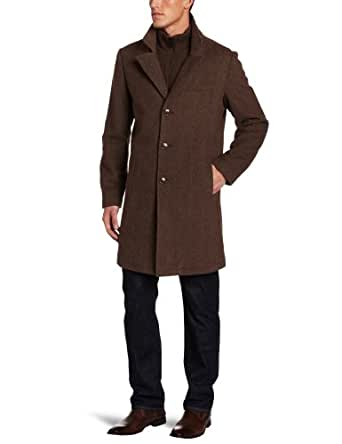 Kenneth Cole Men's Herringbone Walker Coat, Brown, X-Large