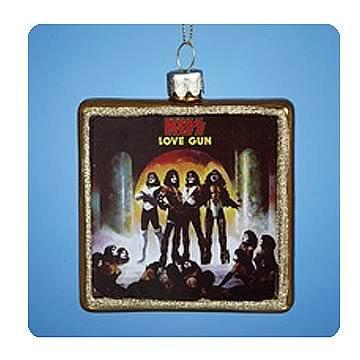 KISS Love Gun Album Glass Ornament