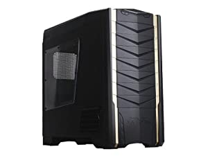 Silverstone Tek Extended ATX/ATX/SSI-CEB Full Tower Case with 90-Degree Motherboard Mounting with Window Side Panel Computer Case RV03B-W (Matte Black)