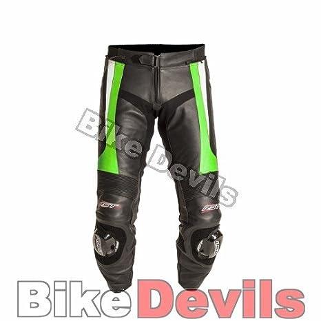 Nouvelle RST lame 1115 cuir vert moto pantalon