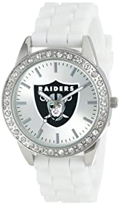 Game Time Ladies NFL-FRO-OAK Frost NFL Series Oakland Raiders 3-Hand Analog Watch by Game Time