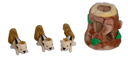 Kyjen Hide A Squirrel Puzzle Toy For Dogs Jumbo