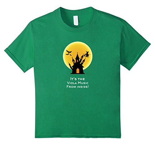 [Kids Viola Music From Inside Haunted House Halloween Costume Tee 10 Kelly Green] (Top 10 Last Minute Halloween Costume Ideas)