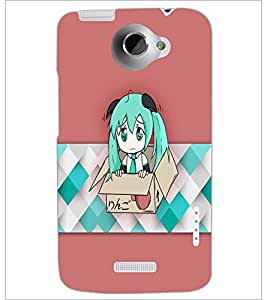 PrintDhaba Sweet Doll D-5380 Back Case Cover for HTC ONE X (Multi-Coloured)