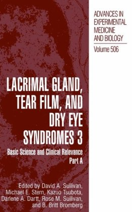 Lacrimal Gland, Tear Film And Dry Eye Syndromes 3 (Volume 506) Set Of 2 Books: Parts A & B (V. 3) front-768879