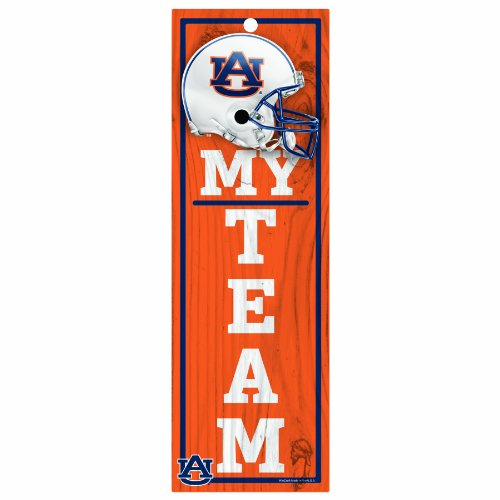 NCAA Auburn Tigers 4 x 13 Wood My Team Sign at Amazon.com