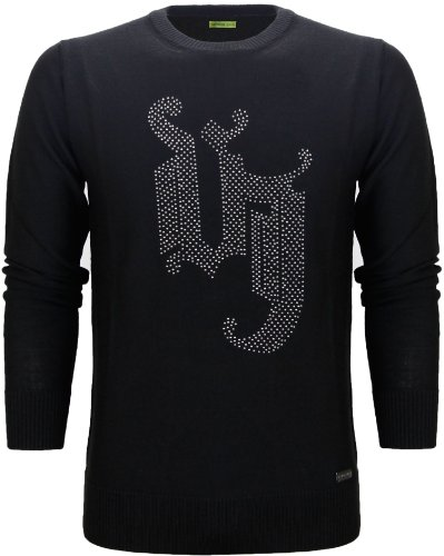 Versace Jeans Men's Studded Logo Knitted Wool Jumper (XX-Large)