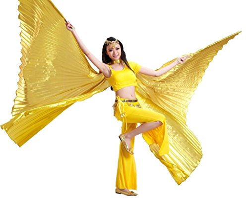 Dance Fairy Golden Opening Belly Dance Isis Dance Wings dance props