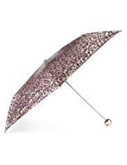 M&S Collection Animal Print Metallic Effect Umbrella