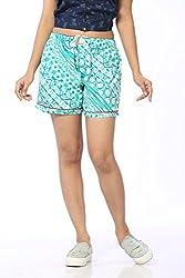 Abony Women's SkyBlue Cotton Short (Size:M)