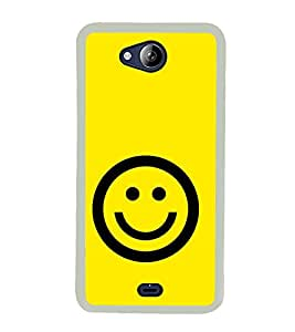 Smiley 2D Hard Polycarbonate Designer Back Case Cover for Micromax Canvas Play Q355