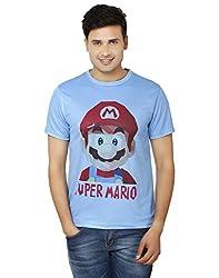 LetsFlaunt Super Mario T-shirt Blue Men Dry-Fit-X-Large Nw