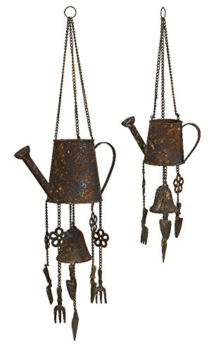 Imax 84452-2 Watering Can Wind Chimes, Set Of 2