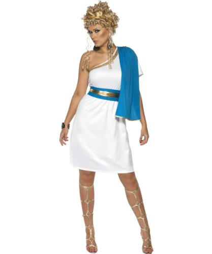 Smiffy's Women's Roman Beauty Costume with Dress Toga Belt and Headpiece