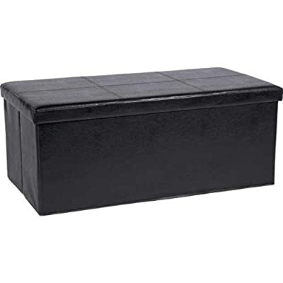 Multifunctional Faux Leather Folding Storage Box/Ottoman (70cm X 38cm X 38cm)