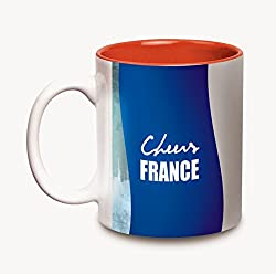 Hot Muggs Cheers France Ceramic Flags Mug, 350ml