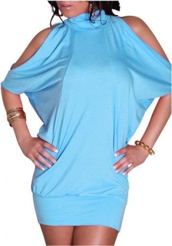 Sexy Minikleid Kleid Fledermaus Longtop Einheitsgröße 34,36,38 - verschiedene Farben
