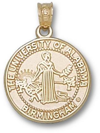Alabama (Birmingham) Blazers Seal Pendant - 14KT Gold Jewelry by Logo Art