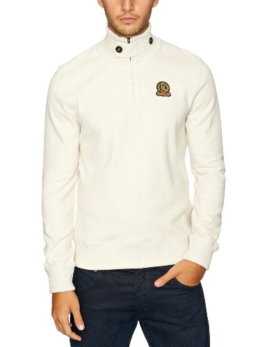 Henri Lloyd Miller Half Zip Sweat Men's Jumper Sandstone Small