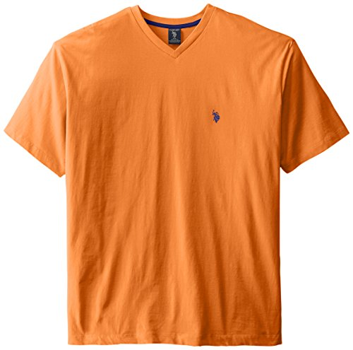 U s polo assn men 39 s big tall v neck short sleeve t for Tall v neck t shirts