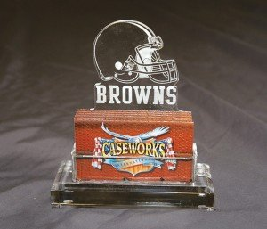 NFL Cleveland Browns Business Card Holder in Gift Box by Caseworks