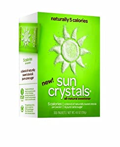 Sun Crystals All-Natural Sweetener, 100-Count Packets (Pack of 4)
