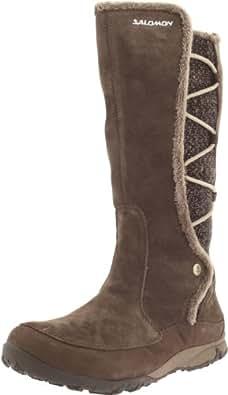 Salomon Women's Emmy WP Casual Boot,Absolute Brown-X/Shrew/Eau,5 M US
