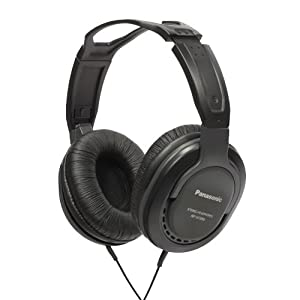Panasonic RP-HT265E-K Closed Type Headphones with Volume Control - 5M